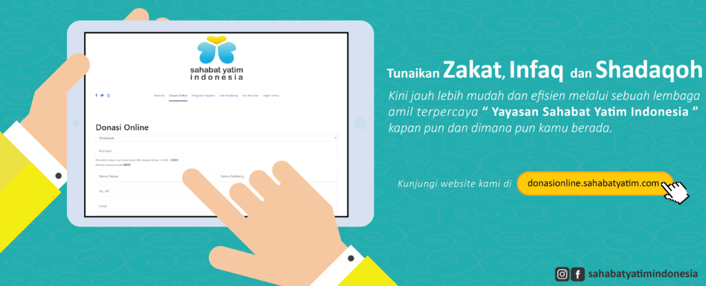 Mudahnya menunaikan Zakat, Infaq dan Shadaqoh di Yayasan Sahabat Yatim indonesia